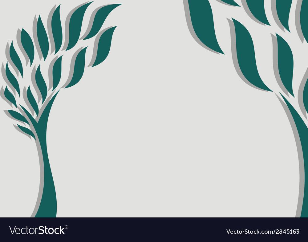 Decorative trees background vector | Price: 1 Credit (USD $1)