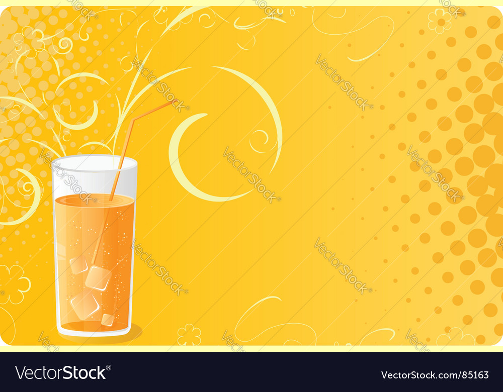 Halftone banner with juice glass vector | Price: 1 Credit (USD $1)