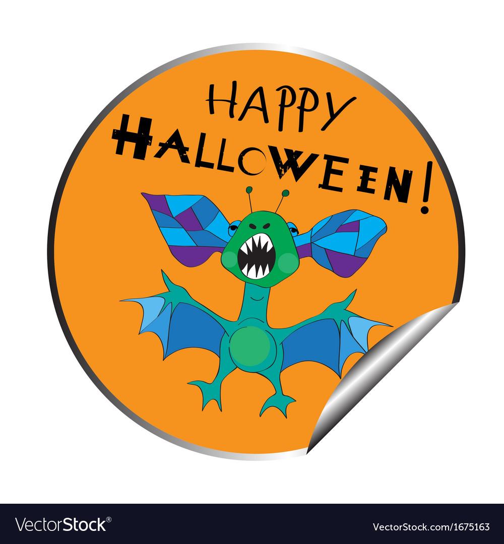 Halloween sticker vector | Price: 1 Credit (USD $1)