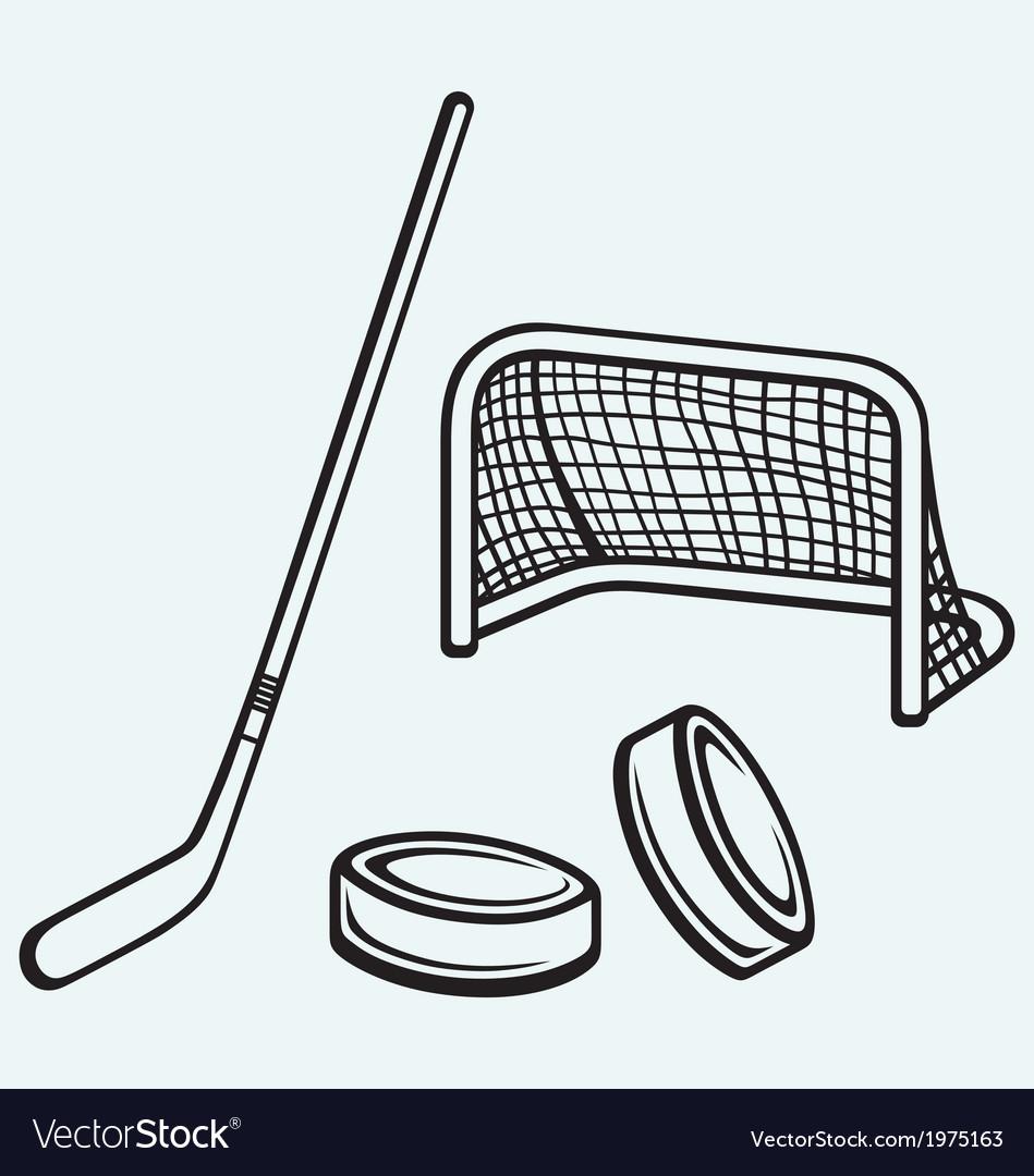 Hockey icon vector | Price: 1 Credit (USD $1)