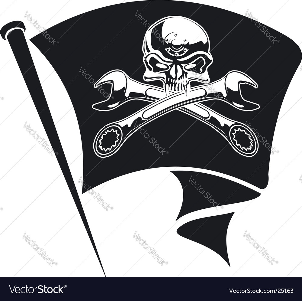 Jolly roger flag vector | Price: 1 Credit (USD $1)