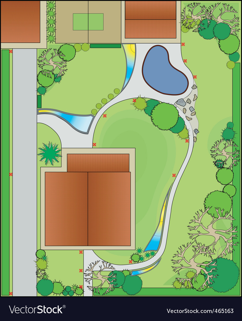 Landscape design vector | Price: 1 Credit (USD $1)