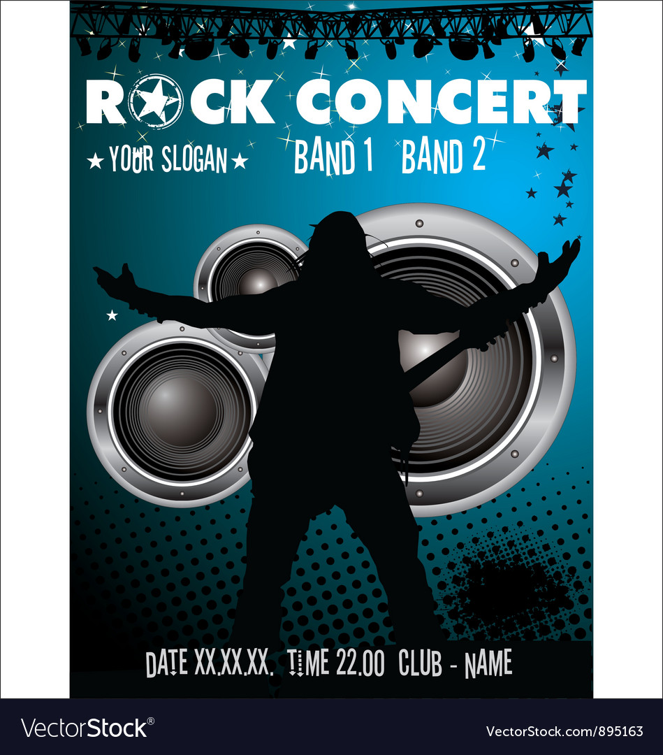 Rock concert wallpaper vector | Price: 1 Credit (USD $1)