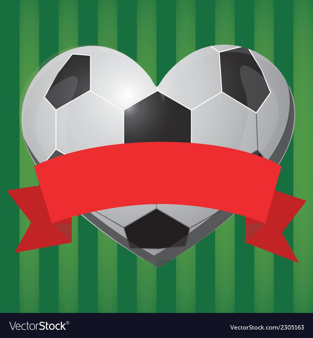 Soccer heart vector | Price: 1 Credit (USD $1)