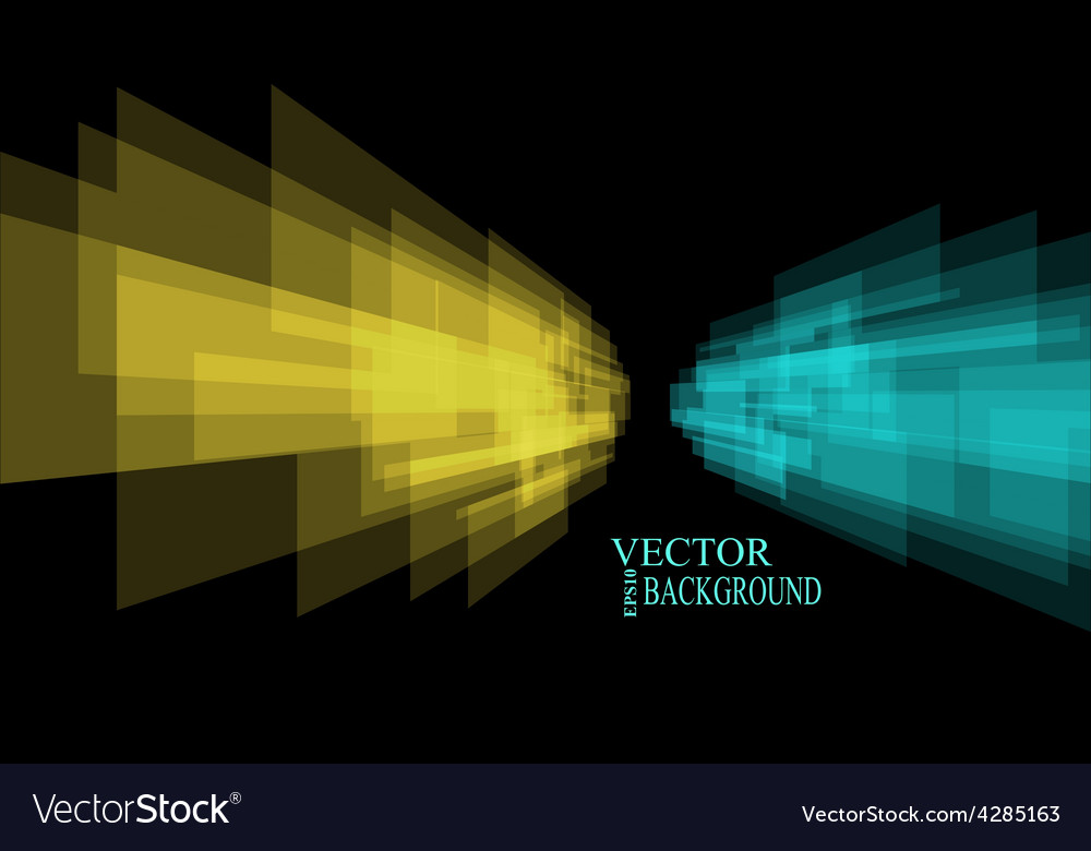 Stripes background perspective yellow and cyan vector | Price: 1 Credit (USD $1)