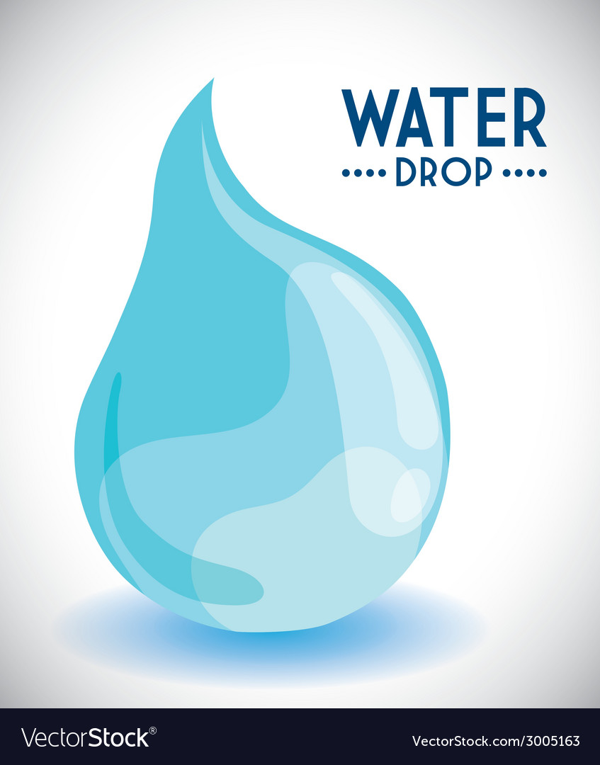 Water drop design vector | Price: 1 Credit (USD $1)