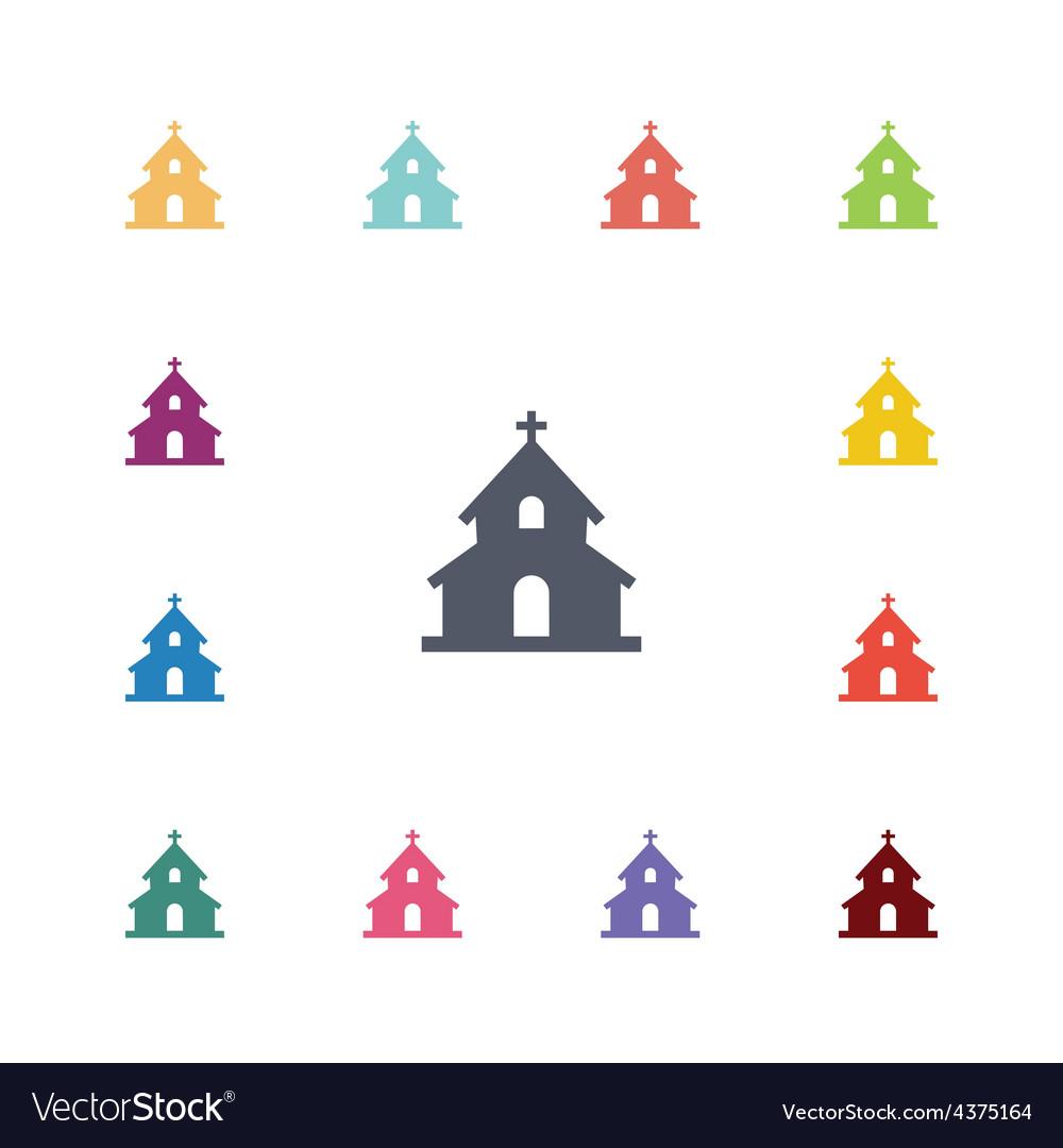 Church flat icons set vector   Price: 1 Credit (USD $1)