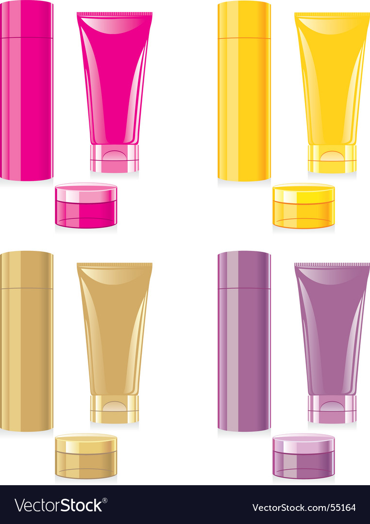 Face and hand cream set vector | Price: 1 Credit (USD $1)