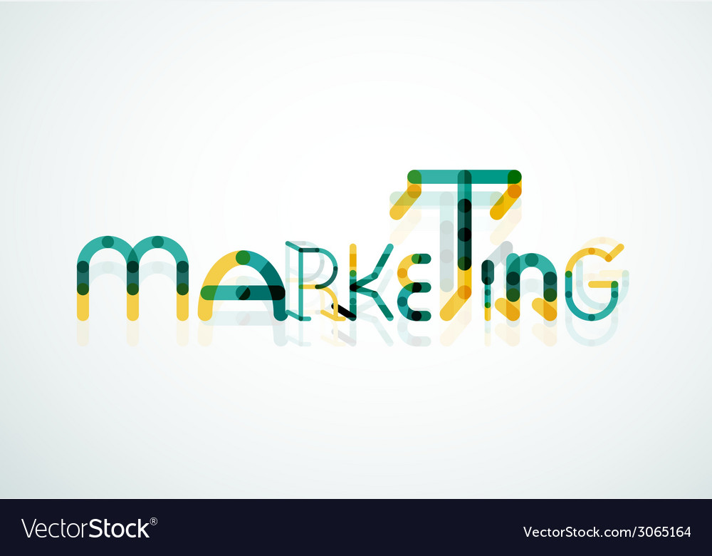 Marketing word font concept vector   Price: 1 Credit (USD $1)