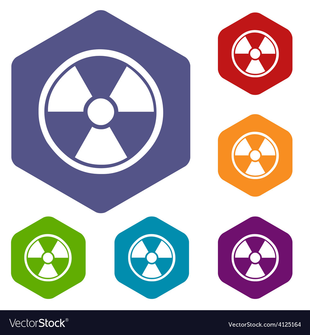 Nuclear rhombus icons vector | Price: 1 Credit (USD $1)