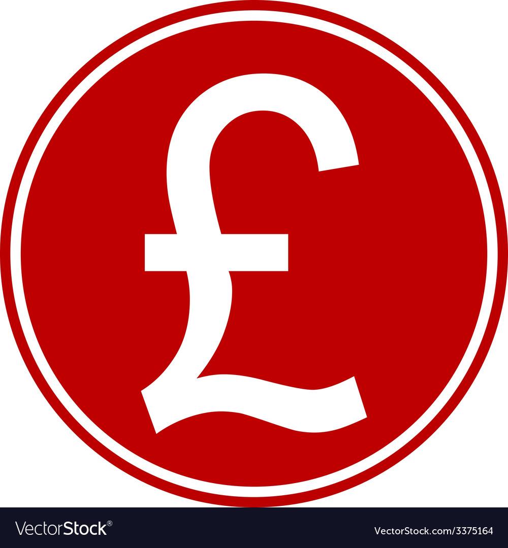 Pound symbol button vector | Price: 1 Credit (USD $1)