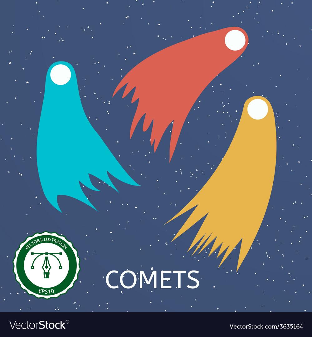 Retro comet vector | Price: 1 Credit (USD $1)
