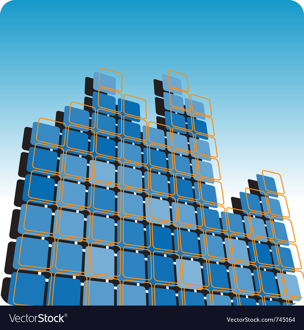 Squares high rise vector | Price: 1 Credit (USD $1)