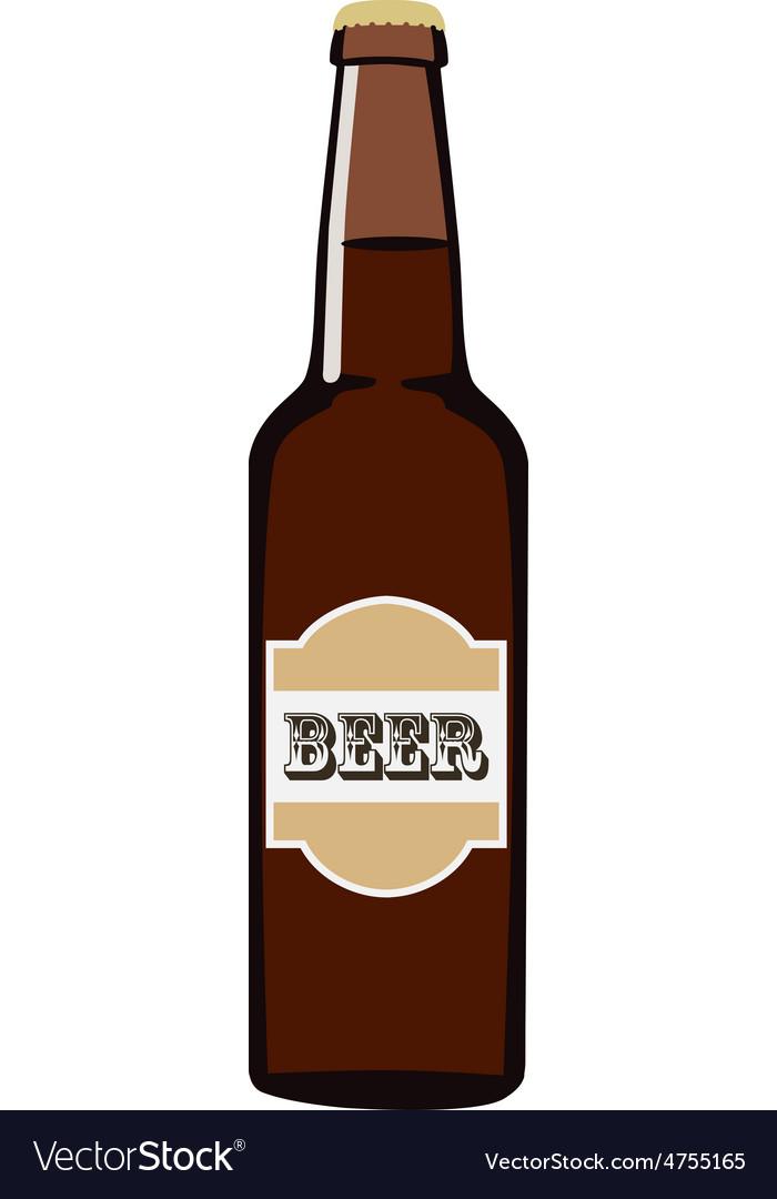 Beer bottle vector | Price: 1 Credit (USD $1)