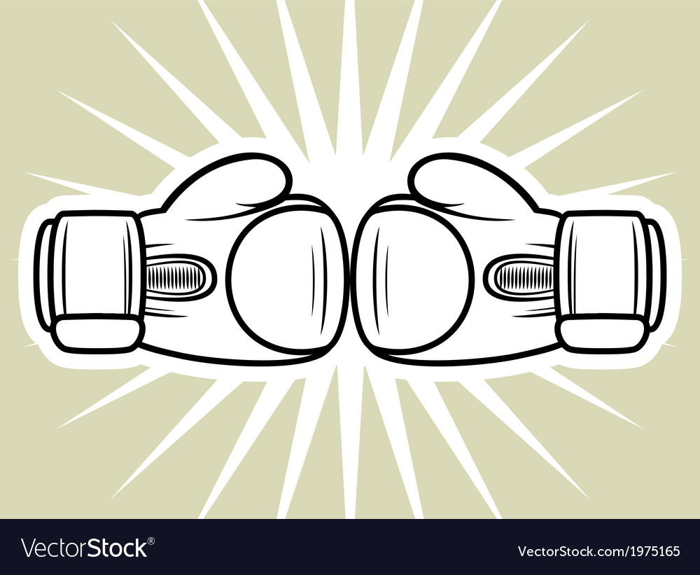 Boxing gloves3 vector | Price: 1 Credit (USD $1)