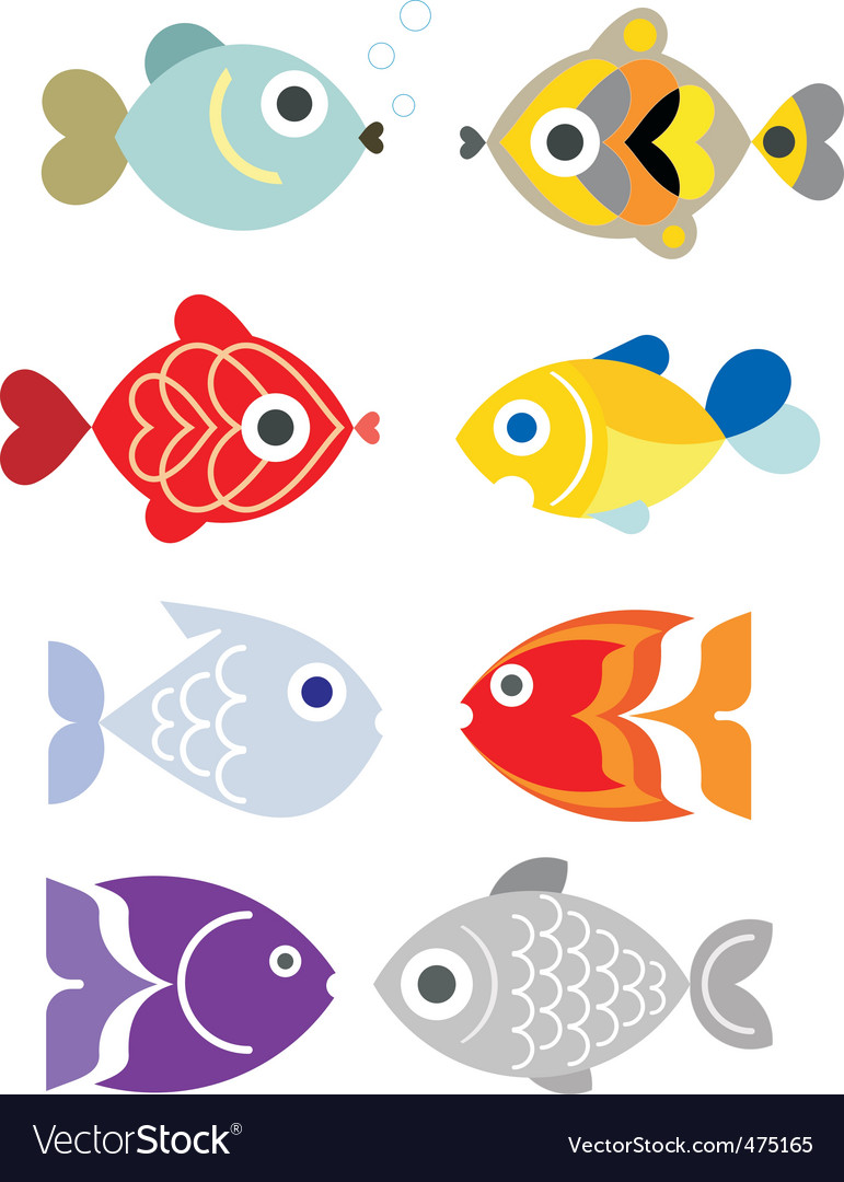 Exotic fishes vector | Price: 3 Credit (USD $3)