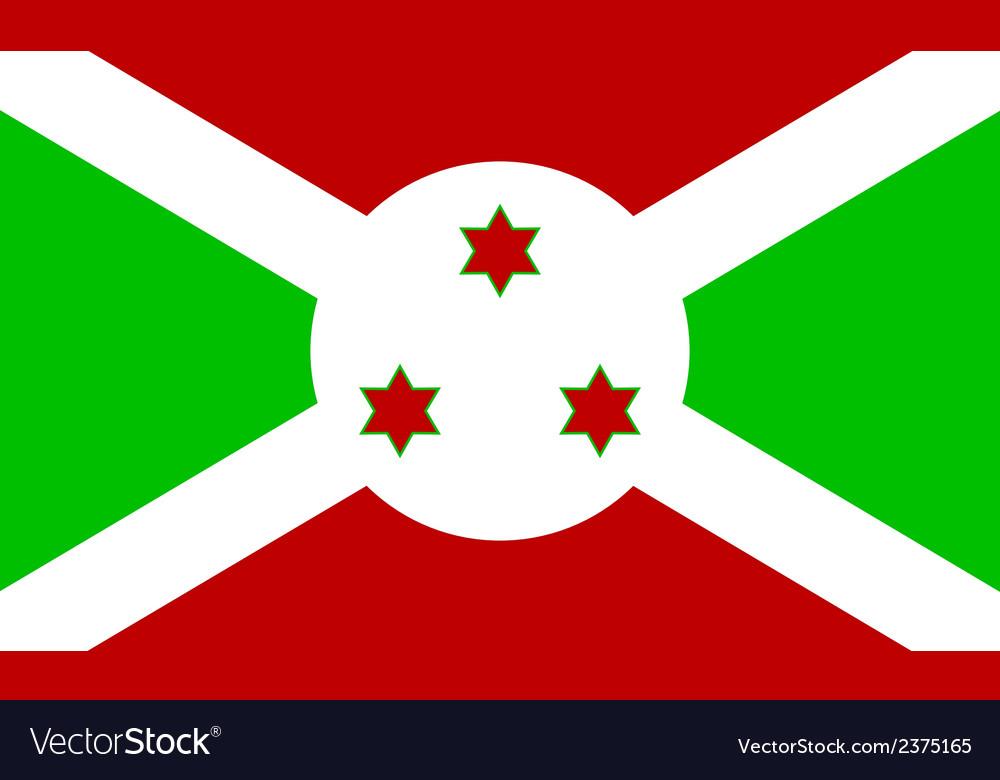 Flag of burundi vector | Price: 1 Credit (USD $1)