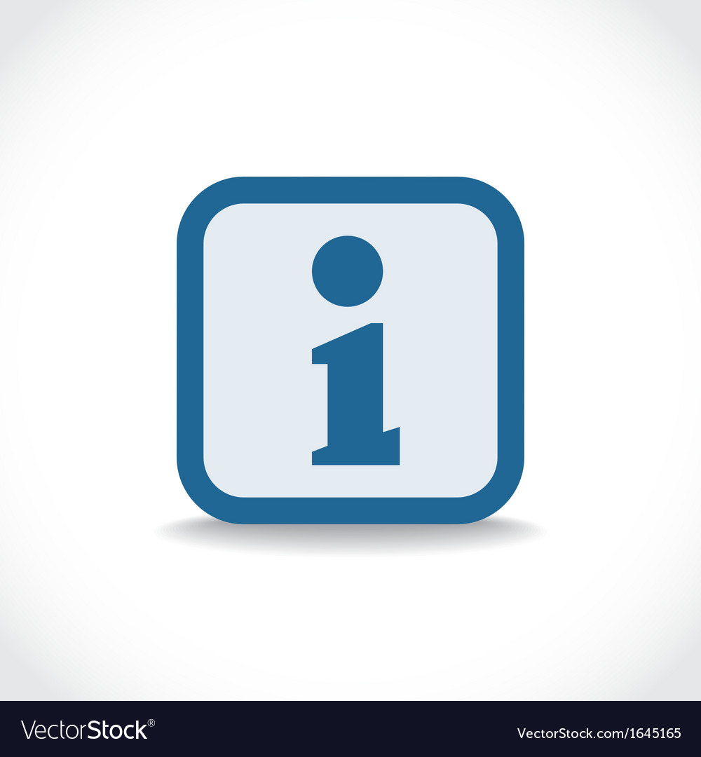 Information icon vector | Price: 1 Credit (USD $1)