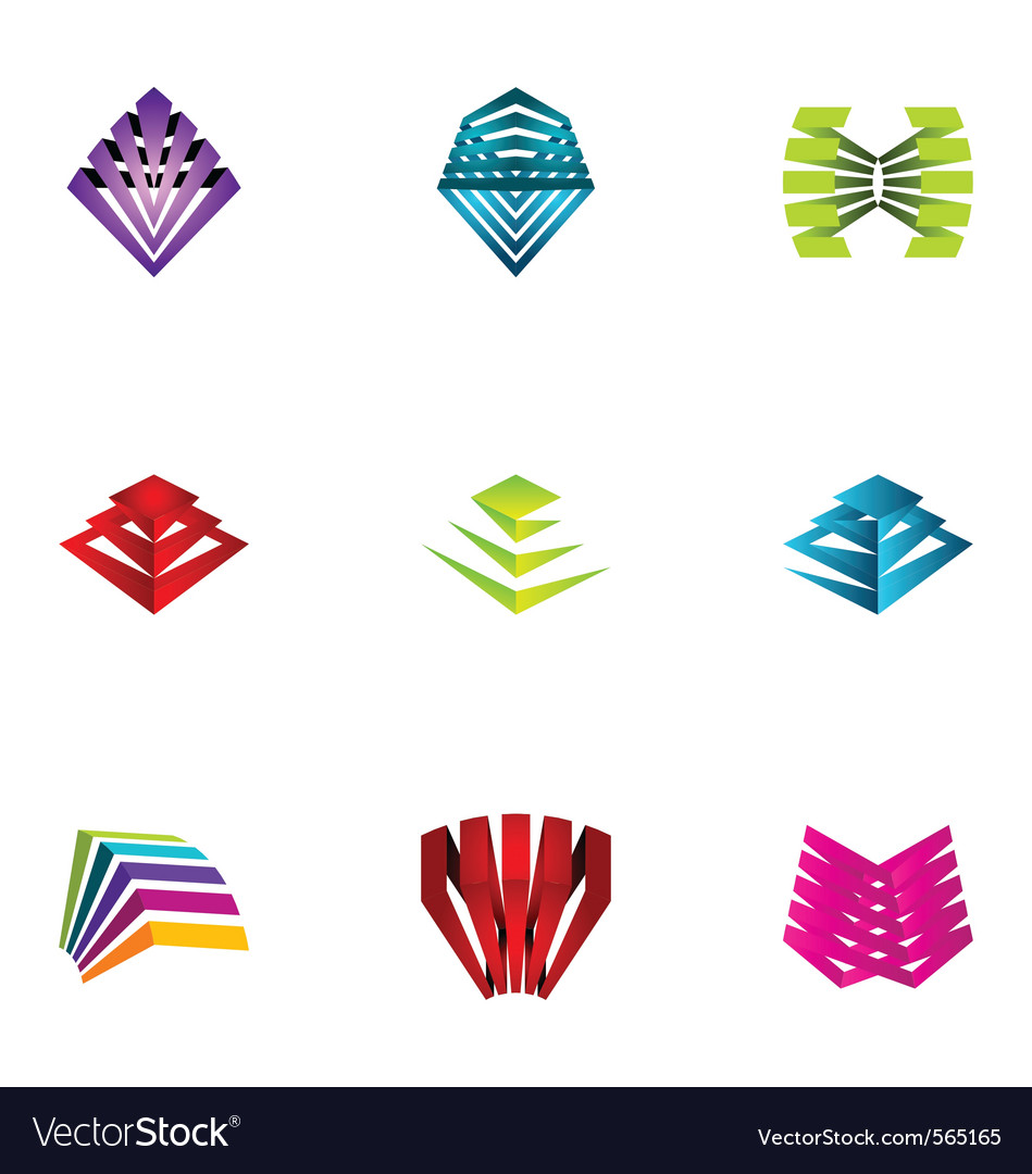 Logo design elements set 12 vector | Price: 1 Credit (USD $1)