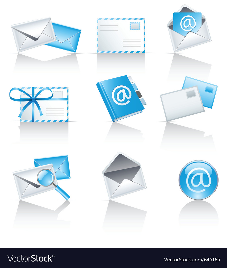 Mail service icons vector | Price: 1 Credit (USD $1)