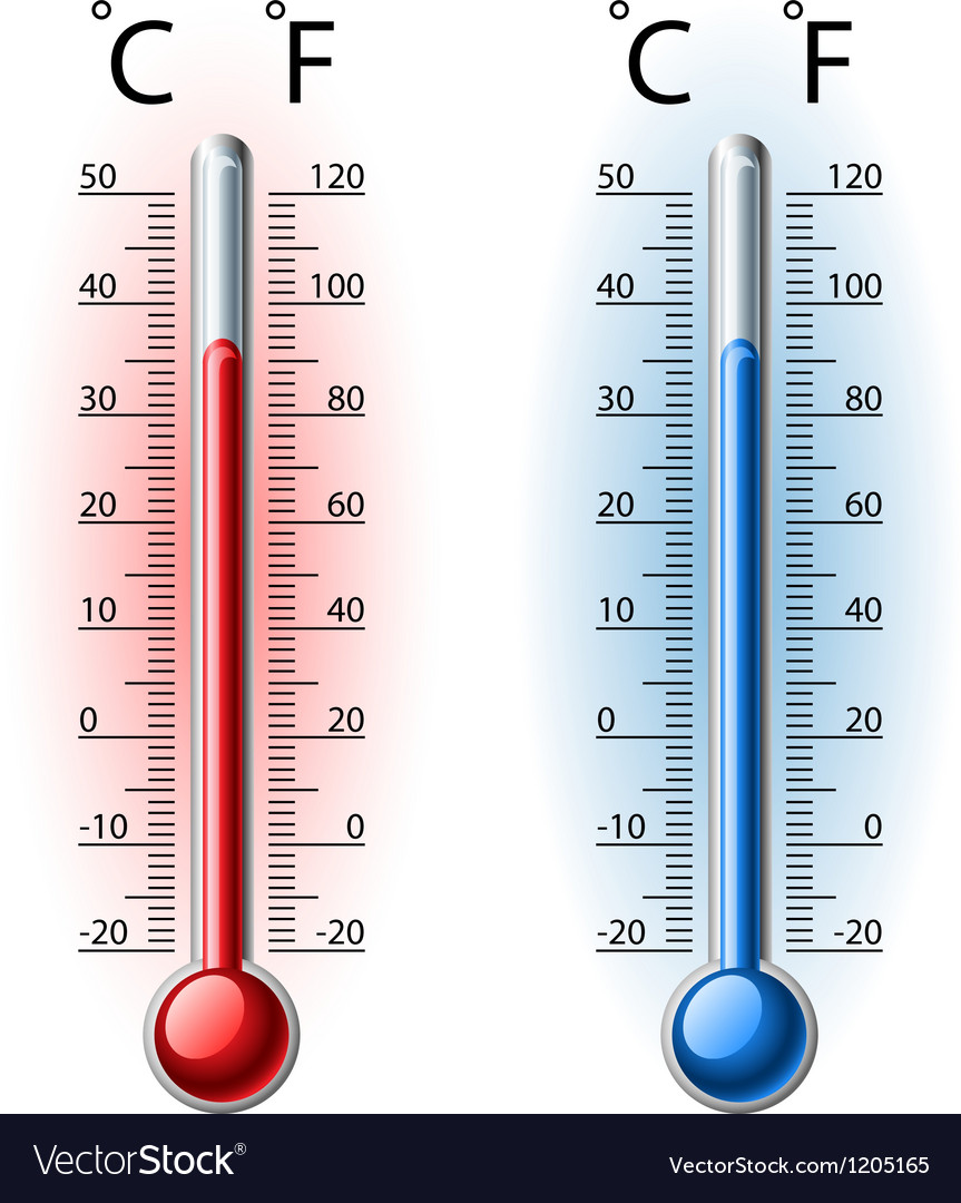 Thermometer set vector | Price: 1 Credit (USD $1)
