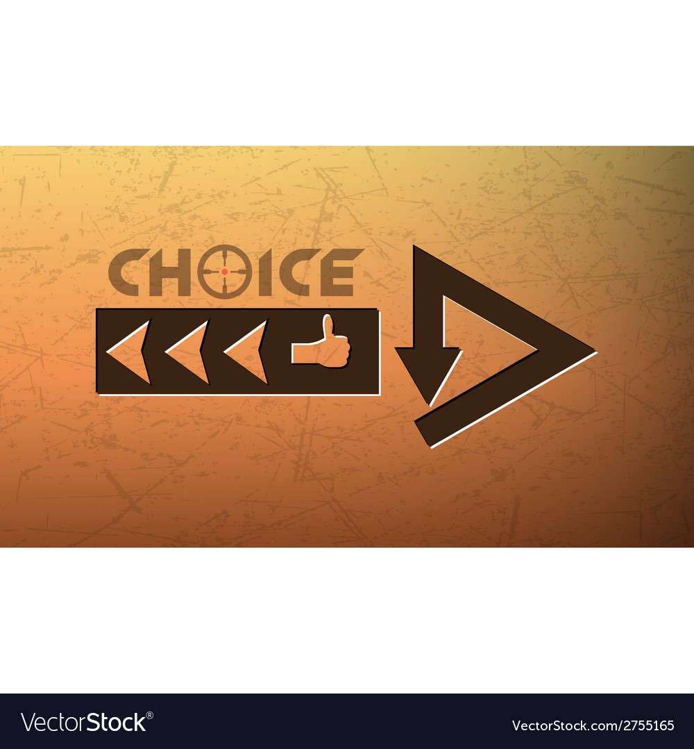 Problem of choice vector | Price: 1 Credit (USD $1)