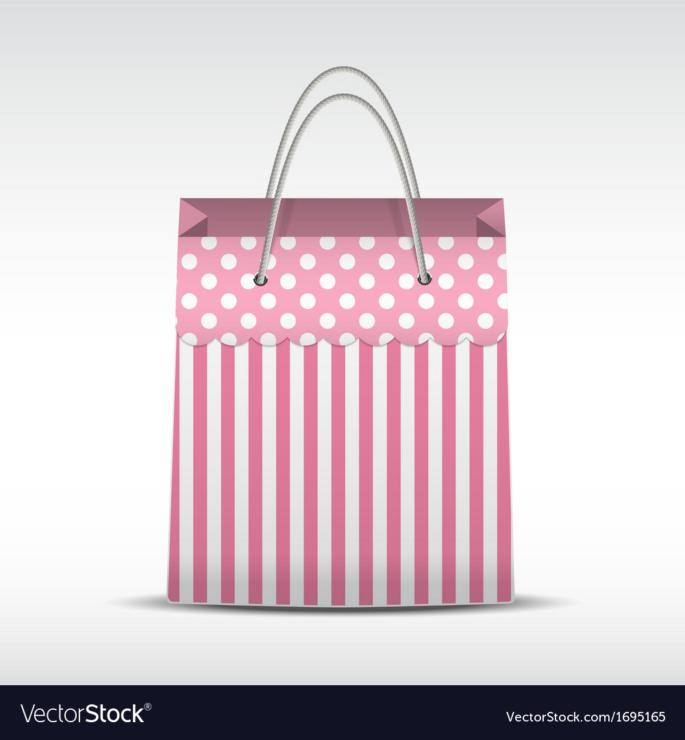 Vintage shopping bag in stripes texture vector | Price: 1 Credit (USD $1)