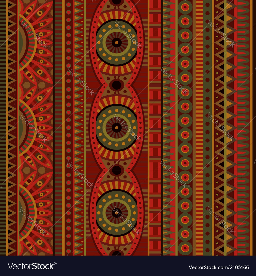 Abstract tribal ethnic seamless pattern vector | Price: 1 Credit (USD $1)