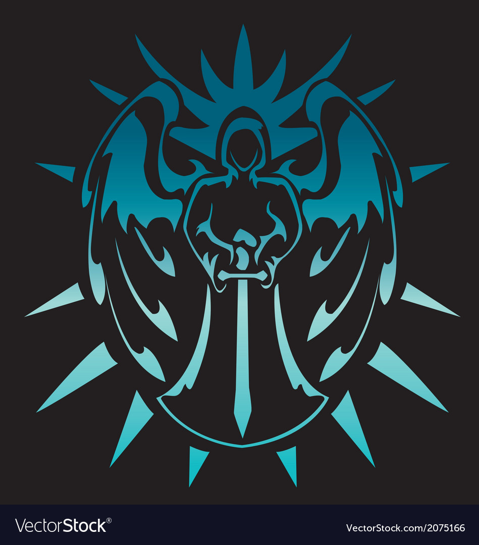 Angel of light tribal design vector | Price: 1 Credit (USD $1)