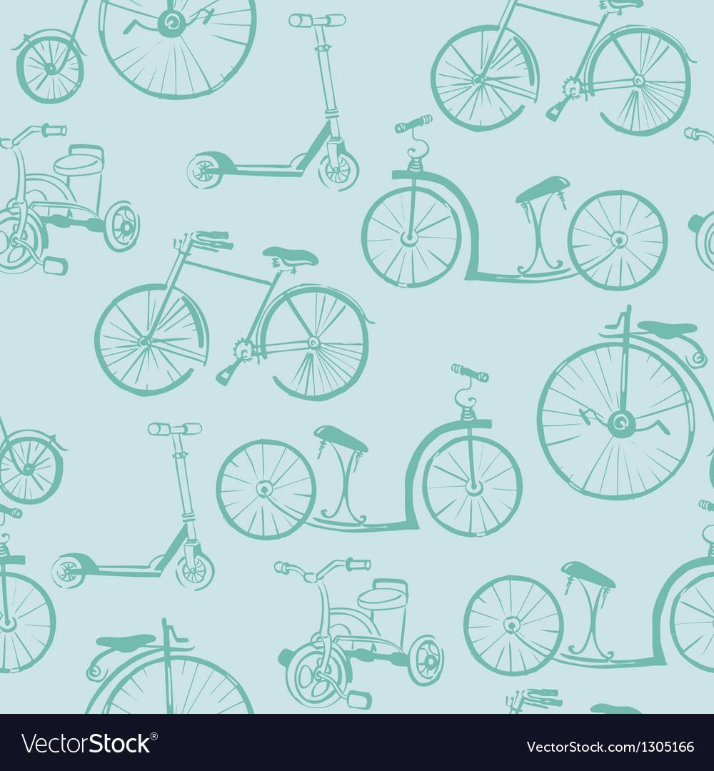 Baby bicycle background vector | Price: 1 Credit (USD $1)