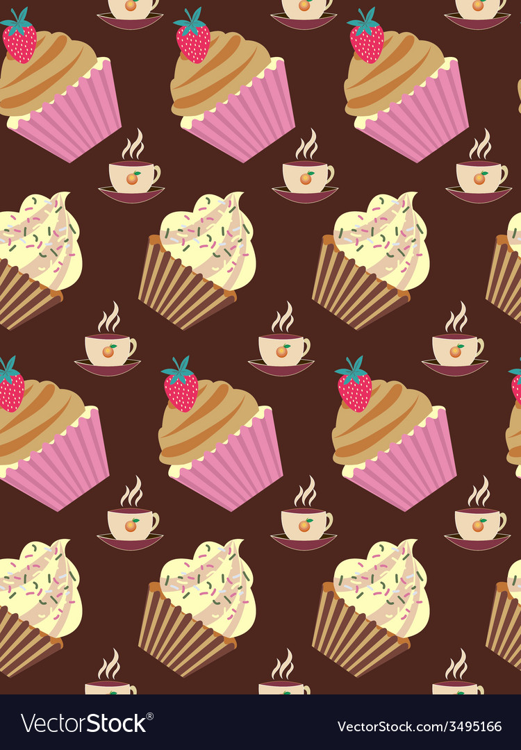 Cakes pattern vector   Price: 1 Credit (USD $1)