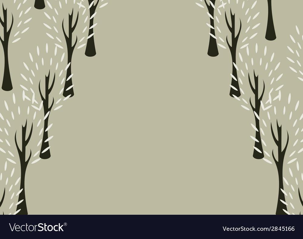 Decorative tree background vector | Price: 1 Credit (USD $1)