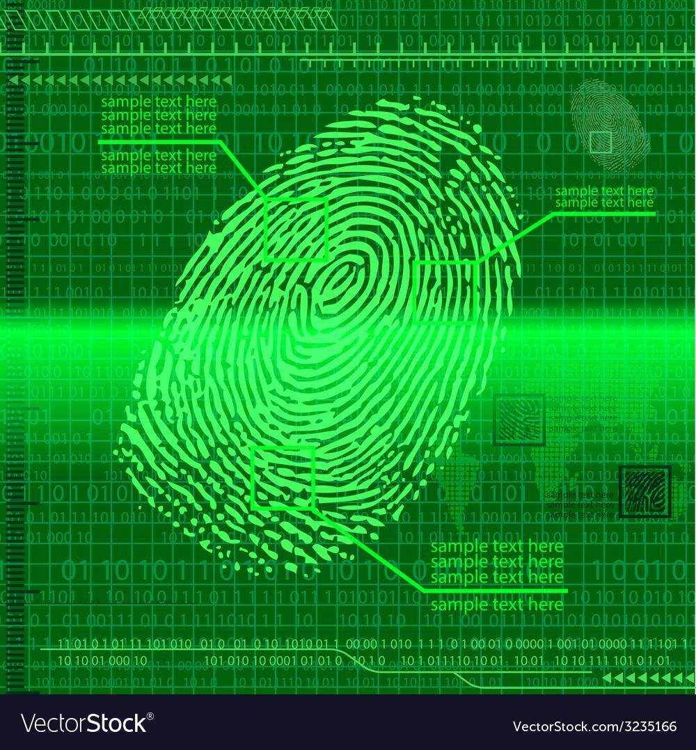 Finger print green vector | Price: 1 Credit (USD $1)