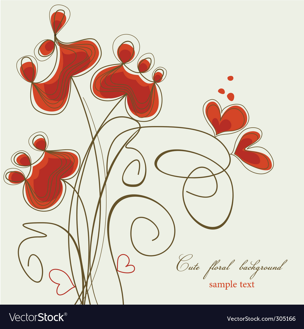 Flowers and hearts vector | Price: 1 Credit (USD $1)