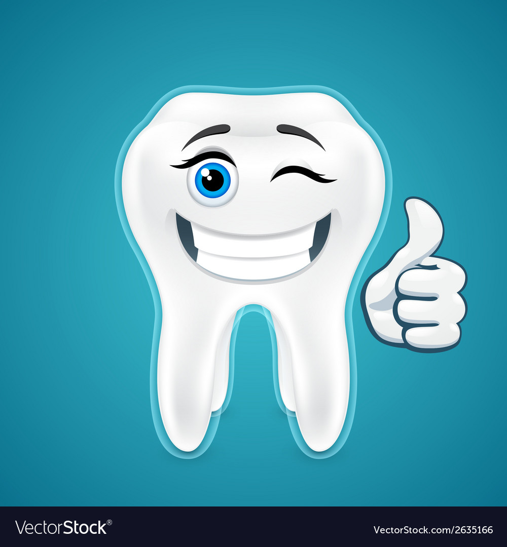 Happy protected human teeth vector | Price: 1 Credit (USD $1)