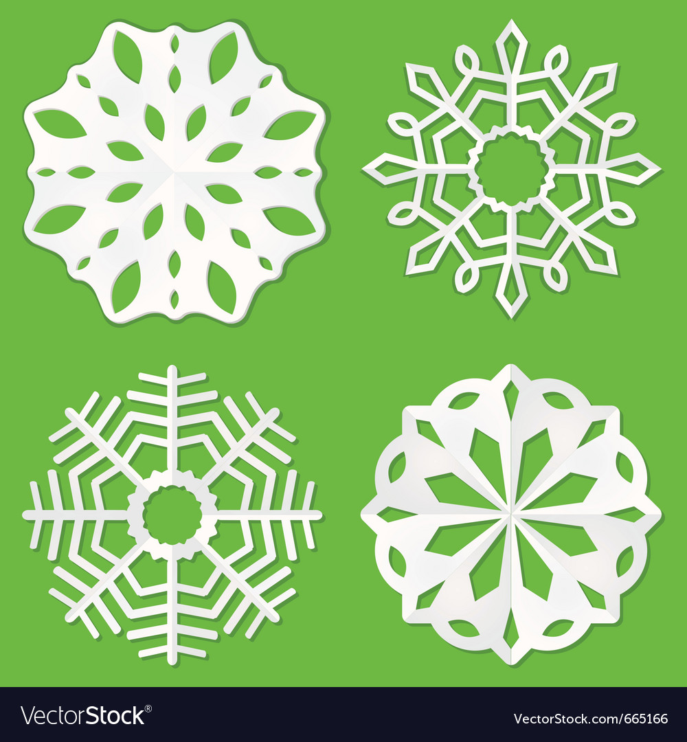 Paper cut snowflakes vector | Price: 1 Credit (USD $1)