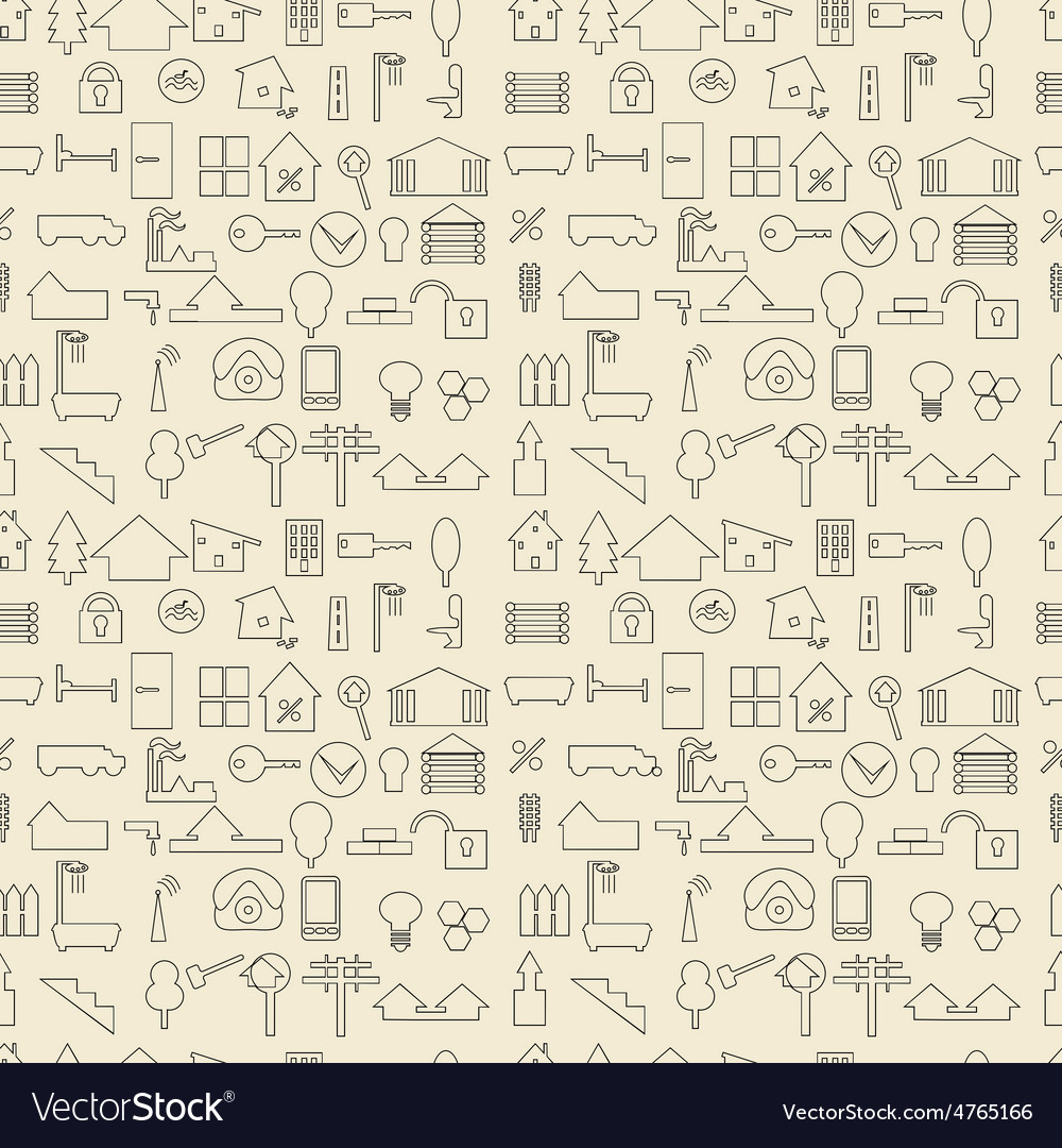 Real estate and construction items linear set vector | Price: 1 Credit (USD $1)