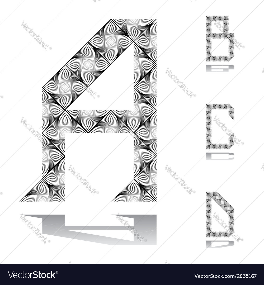 Design abc letters from a to d vector | Price: 1 Credit (USD $1)