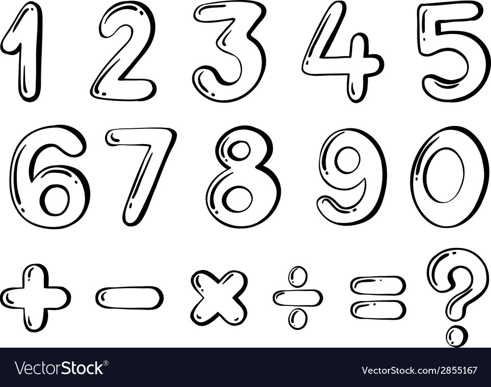 Different numerical figures vector | Price: 1 Credit (USD $1)