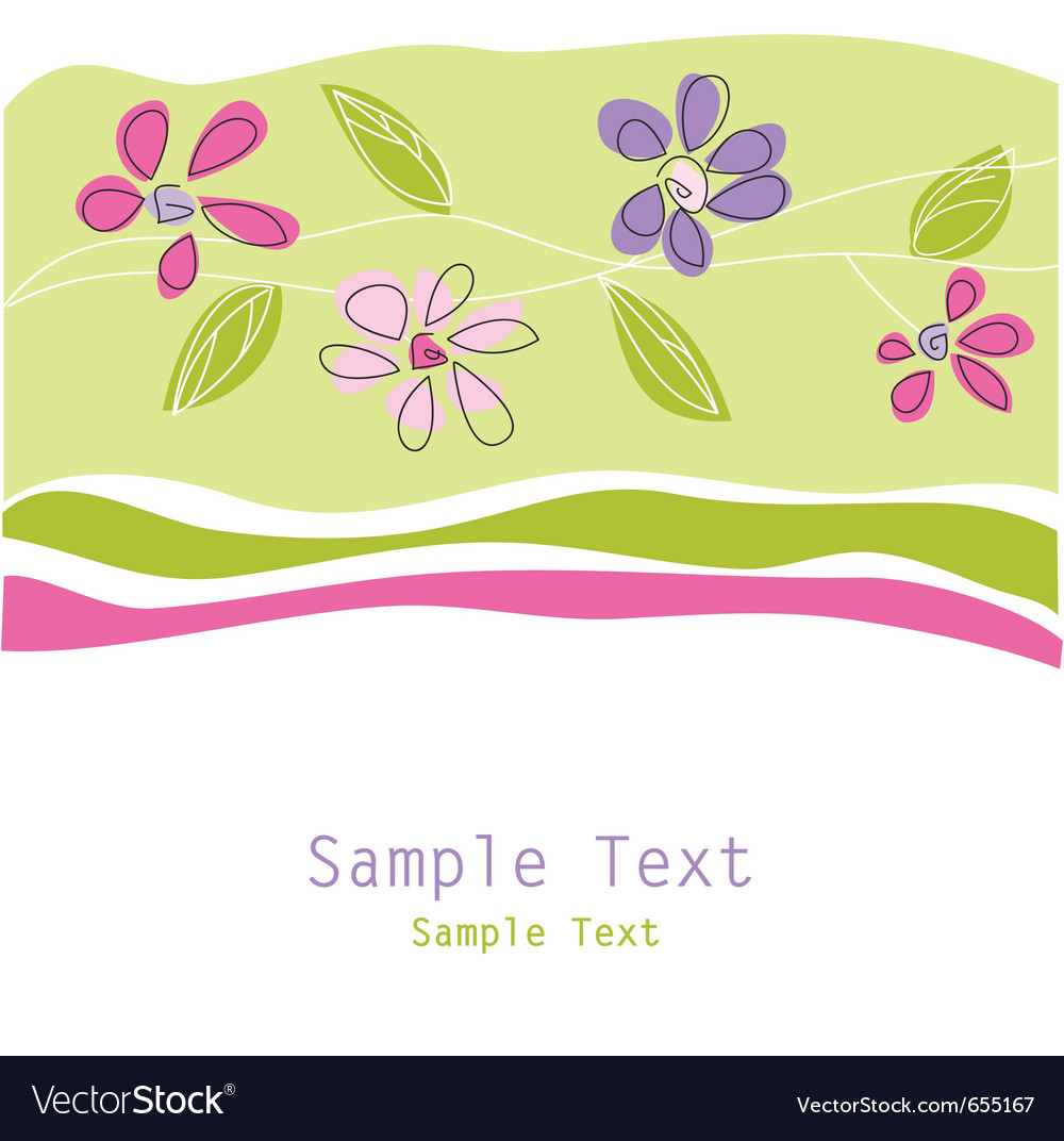Floral greeting card vector | Price: 1 Credit (USD $1)