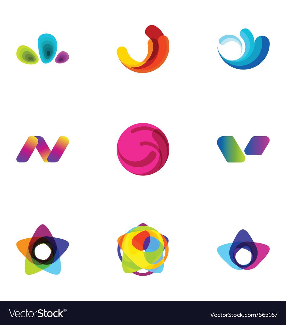 Logo design elements set 13 vector | Price: 1 Credit (USD $1)