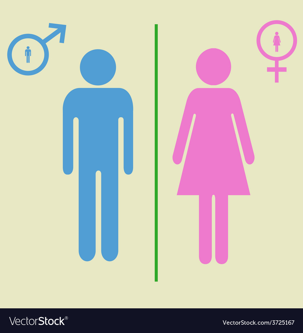 Man and woman signs vector | Price: 1 Credit (USD $1)