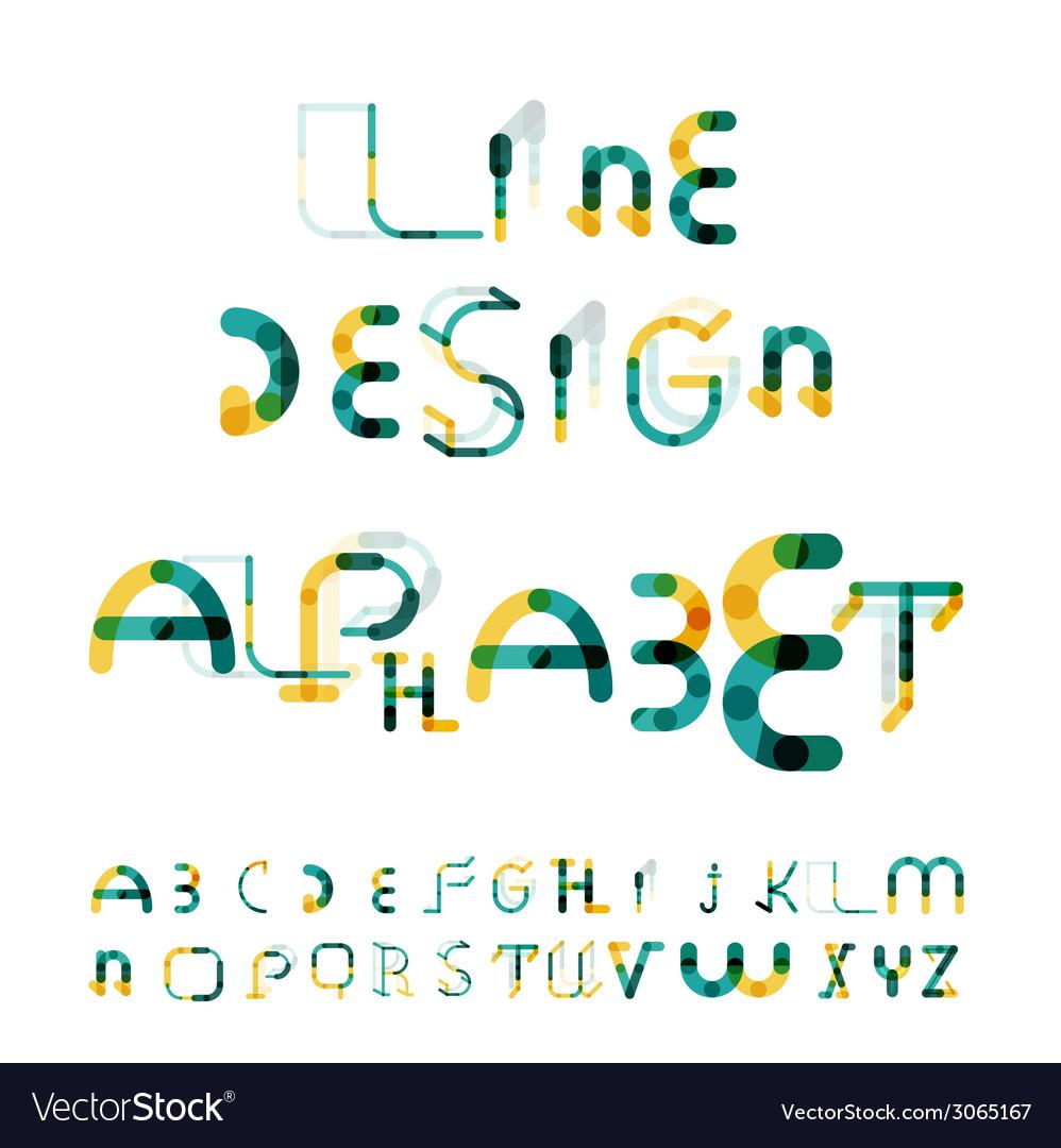 Minimal line design alphabet font typeface vector | Price: 1 Credit (USD $1)