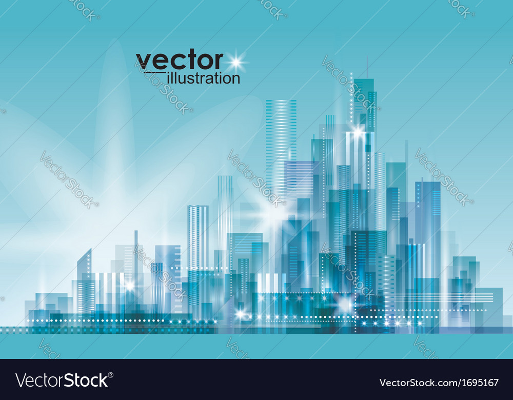 Modern cityscape concept background vector | Price: 1 Credit (USD $1)