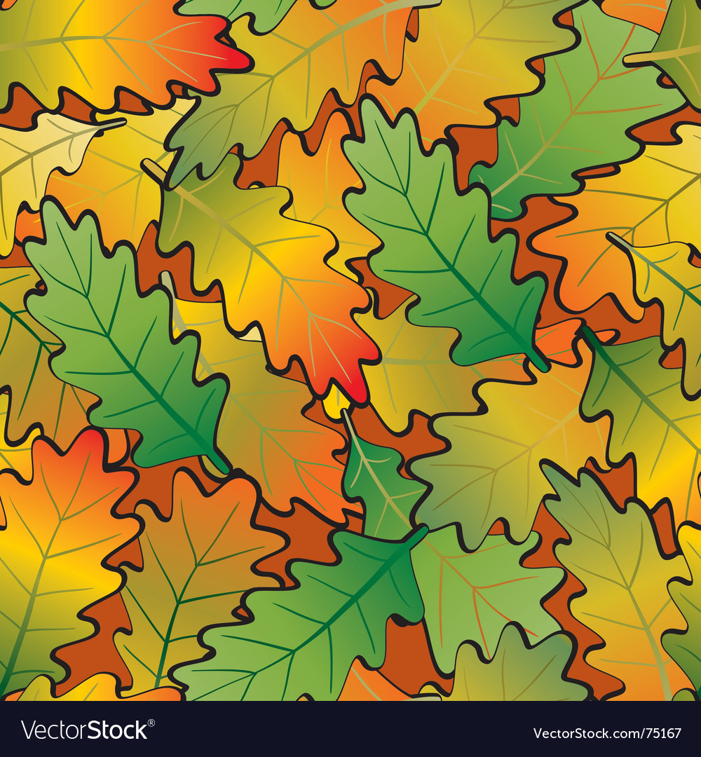 Oak leaf abstract background seamless vector | Price: 1 Credit (USD $1)