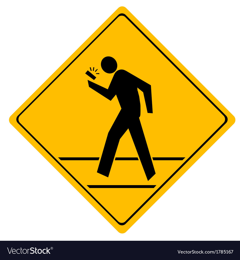 Road sign crosswalk vector | Price: 1 Credit (USD $1)