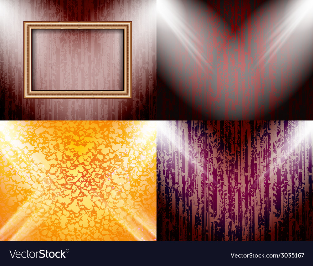 Set of colorful abstract backgrounds and frames vector | Price: 1 Credit (USD $1)