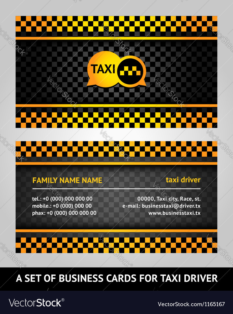 Visiting cards - taxi vector | Price: 1 Credit (USD $1)