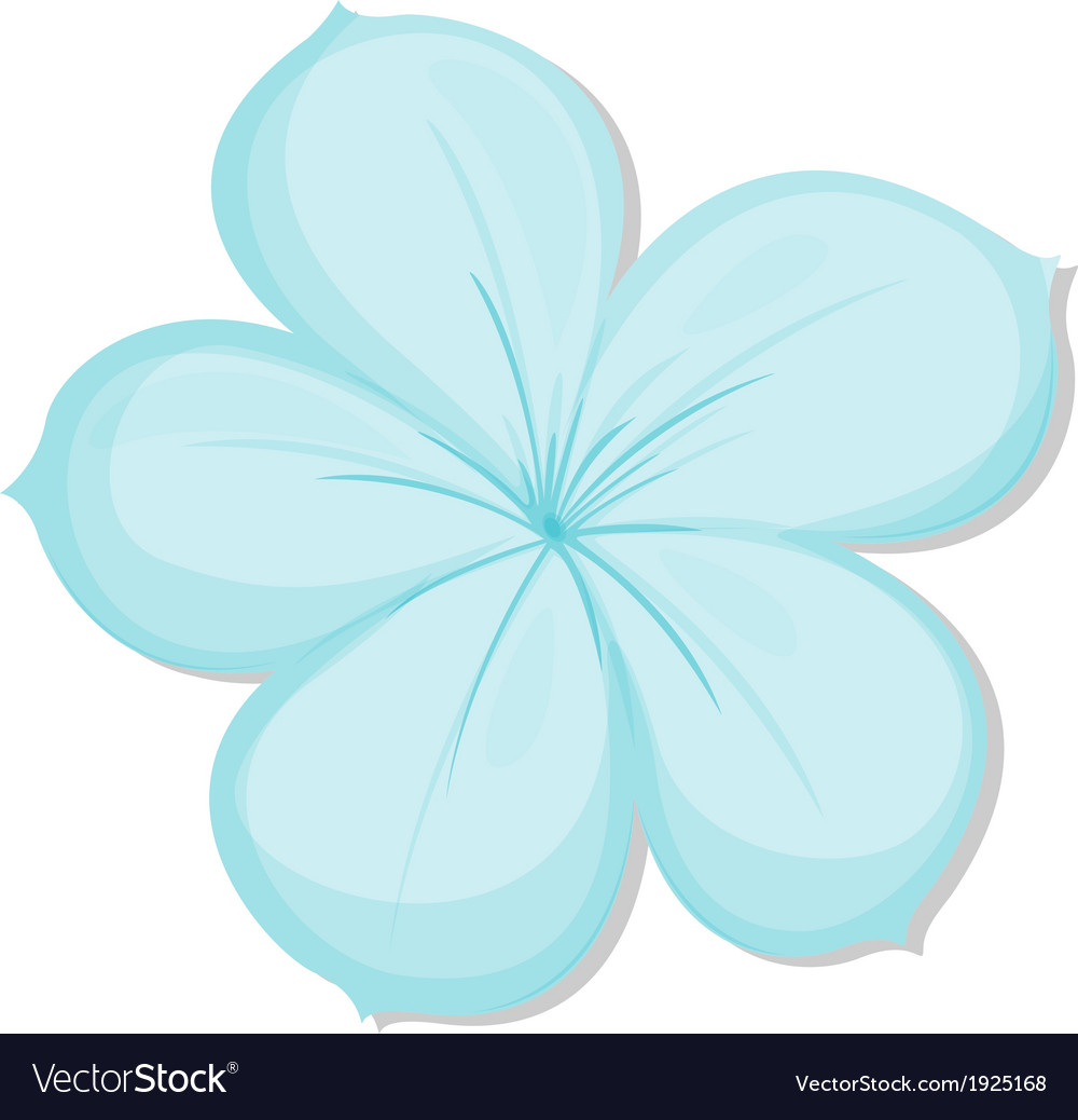 A five-petal flower vector | Price: 3 Credit (USD $3)