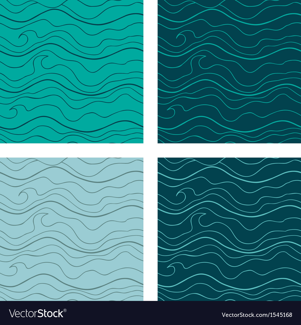 Abstract seamless patterns set fancy doodle vector | Price: 1 Credit (USD $1)